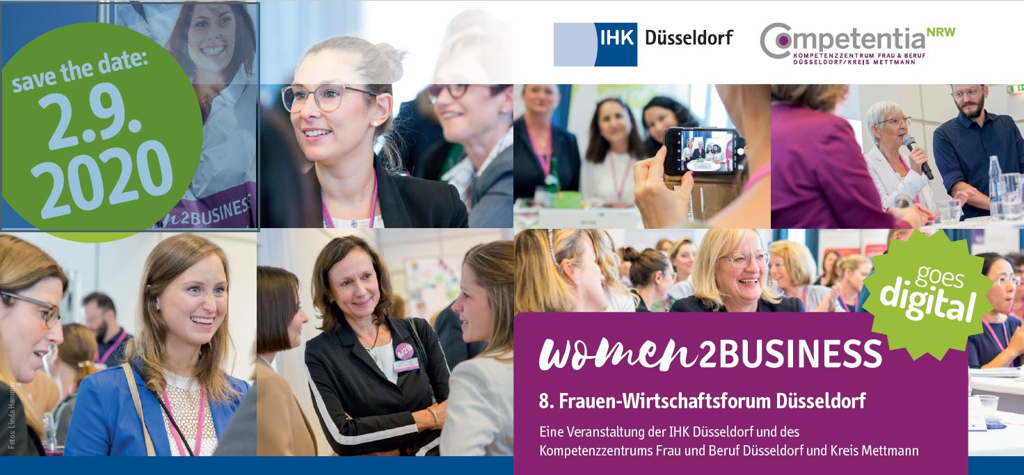 Flyer save the date Frauen-Wirtschaftsforum