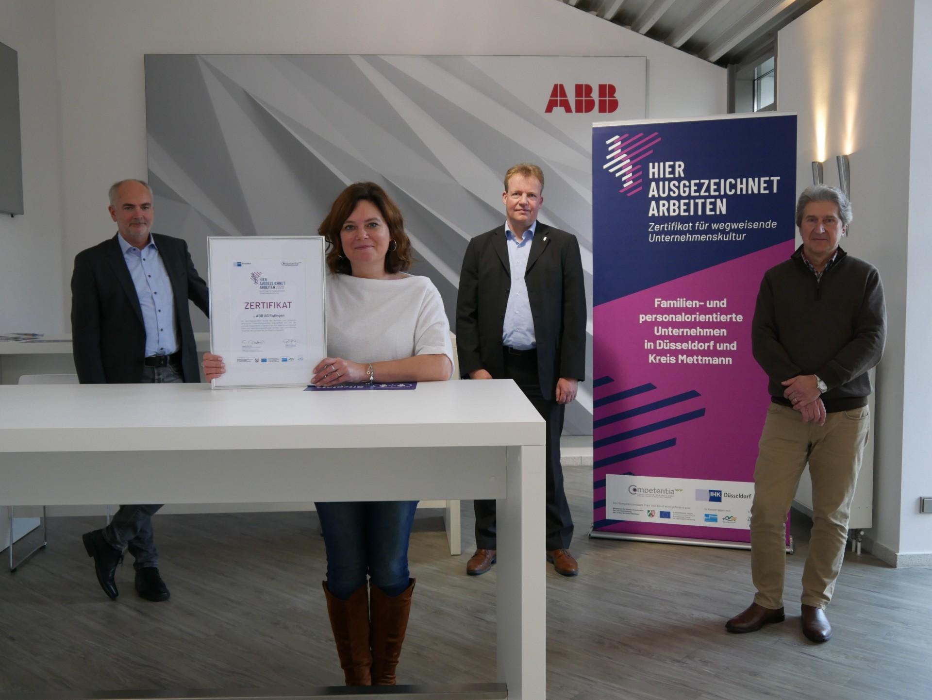 ABB Übergabe Zertifikat