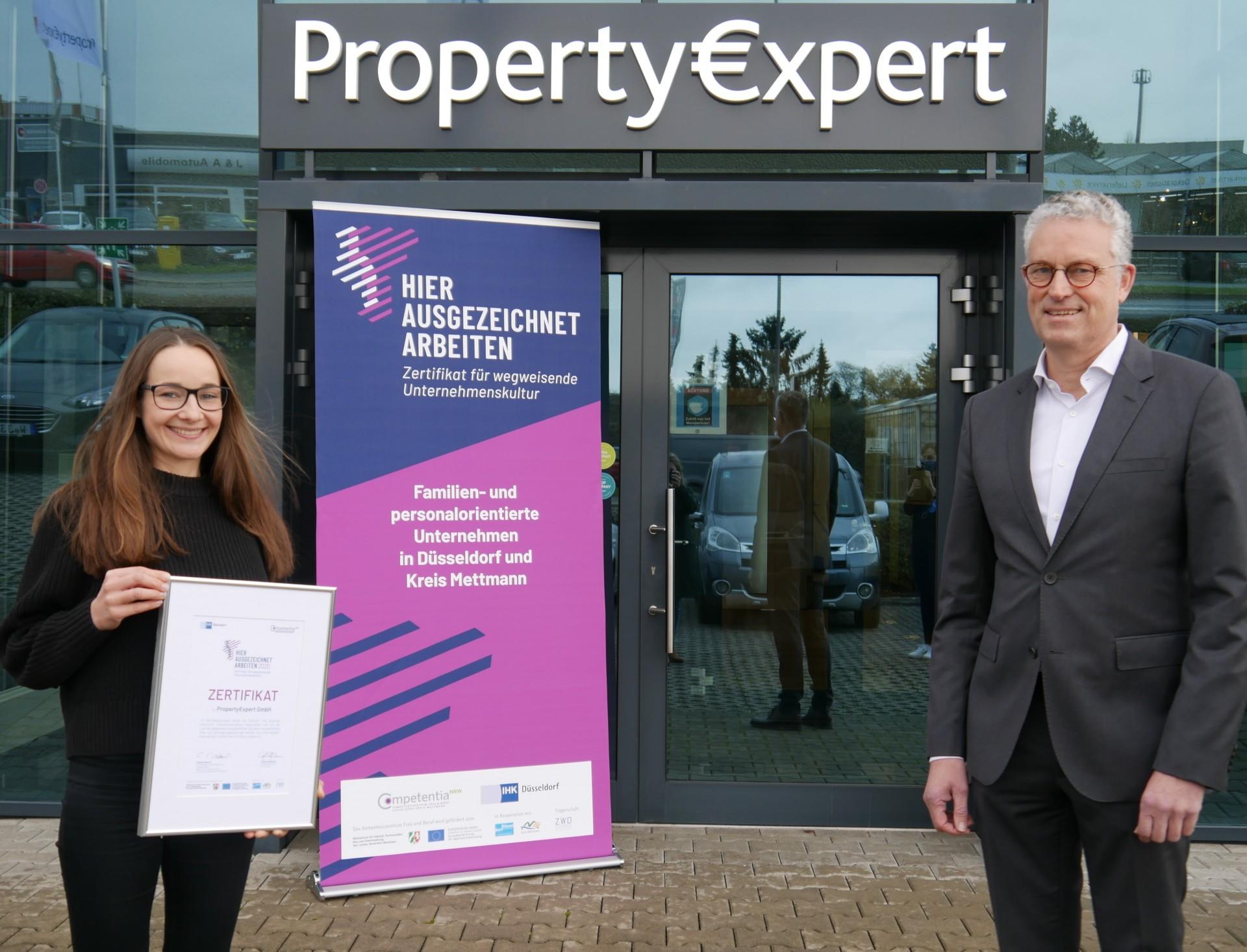Führen in Teilzeit, Property Expert, Zertifikatsübergabe