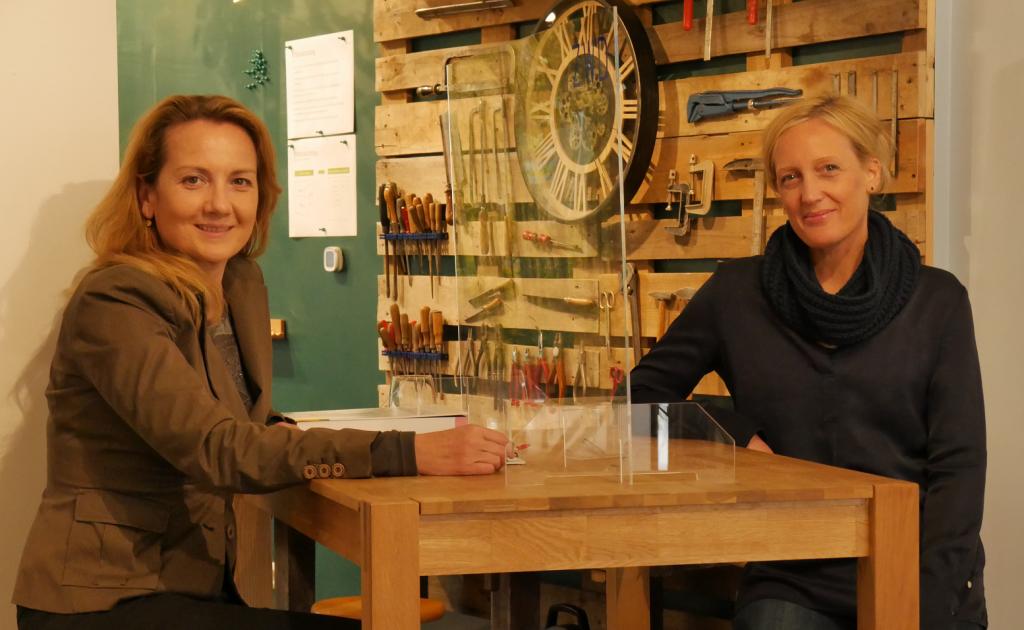Austauschtreffen New Work, Christiane Schmitz und Sabine Rings